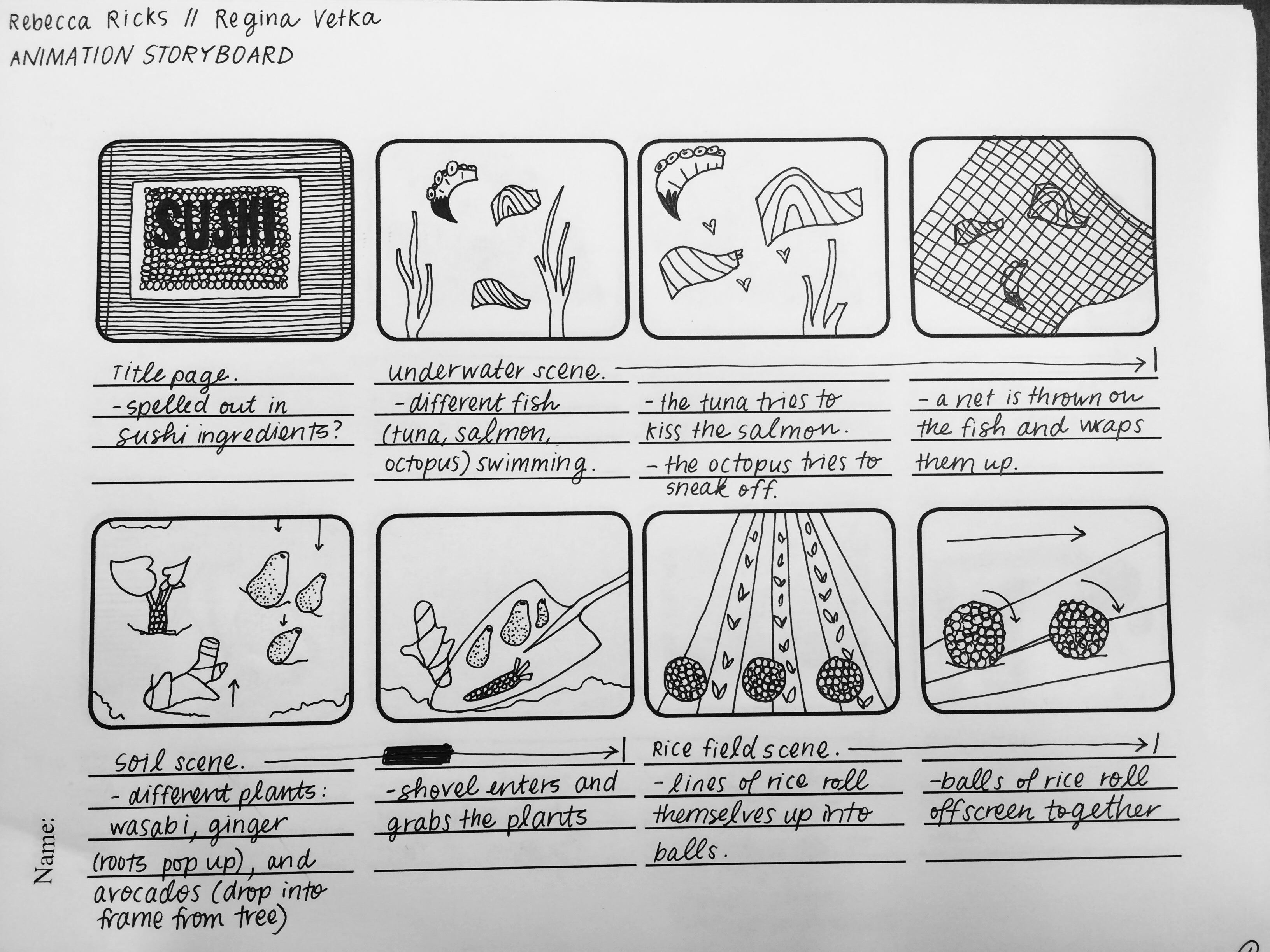 stop motion animation: kawaii sushi. – rebecca ricks